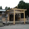 官舎神社拝殿写真